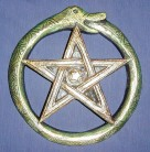 Wall Relief Snake Pentagram