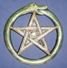 Wall Relief Snake Pentagram