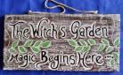 Plaque Witches Garden