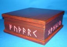 Box with Runes Alphabet