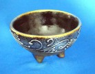 Witch Incense Bowl from Ceramic gold