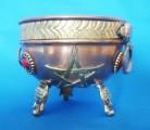 Incense Burner Copper Bowl with Pentagram