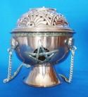 Swinging Censer from Copper with Pentagram