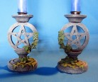 Candlestick pentagram with ivy 2 pieces
