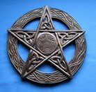 Pentagram, carved, big