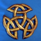 Triple knot, carved