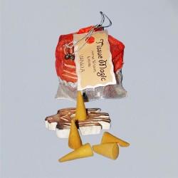 Tissue Magic cône d'encense avec support en petit sac, vanille