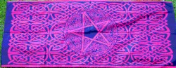Cloth with Celtic Pattern and Pentagram