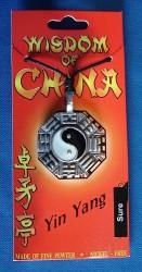 Amuleto in peltro Yin Yang