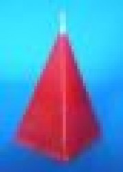 Candela piramide Rossa Love Drawing ( attira Amore)