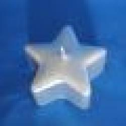 Bougie de l'étoile argent