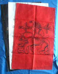 Cloth Odin with Horse Red