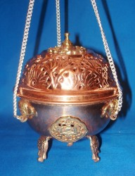 Swinging Censer with Chain from Copper