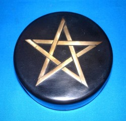 Soapstone Box black, with Pentagram