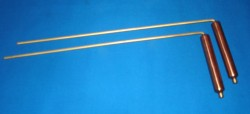 Divining rod of brass with coper handles