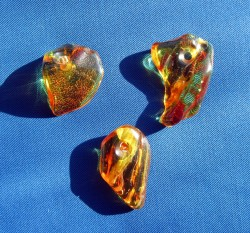 Amber drilled 1A quality 1 piece