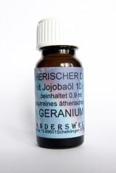 Ethereal fragrance (Ätherischer Duft) jojoba oil with geranium