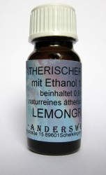 Ethereal fragrance (Ätherischer Duft) ethanol with lemongrass
