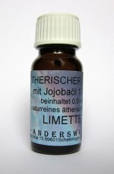 Ethereal fragrance (Ätherischer Duft) jojoba oil with lime