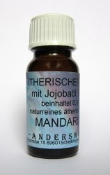 Fragranza etereo (Ätherischer Duft) olio di jojoba con mandarino
