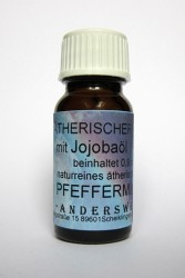 Ethereal fragrance (Ätherischer Duft) jojoba oil with peppermint