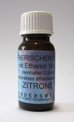 Ethereal fragrance (Ätherischer Duft) ethanol with lemon