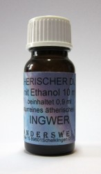 Parfum éthéré (Ätherischer Duft) éthanol avec gingembre