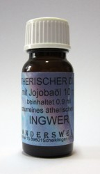 Ethereal fragrance (Ätherischer Duft) jojoba oil with ginger