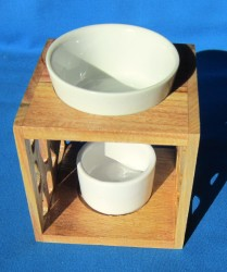 Oil Burner with wooden frame