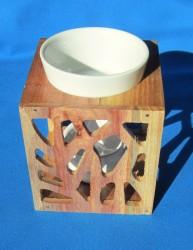 Lampada fragranza con struttura in legno