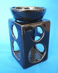 Oil Burner with round holes black