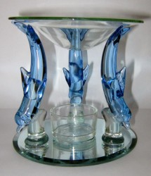 Oil Burner Dolphin from glass