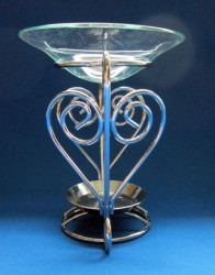 Oil Burner Heart metal