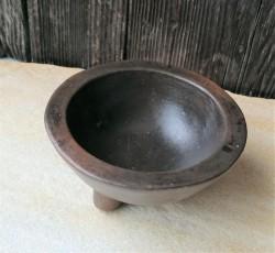Hexen Dreifuß Räucherschale Keramik braun