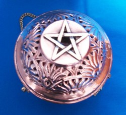 Swinging Censer from Copper with Pentagram