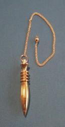 Pendulum medium, oblong brass gold plated