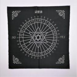 Tissu pour pendule avec hexagramme