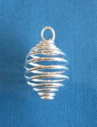Metal spiral silver plated for tumbled stones