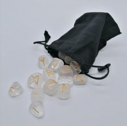 Rune Set from Rock Crystal