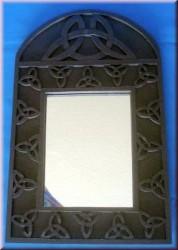 Halbrunder Spiegel