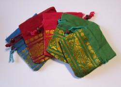 Organza bag small, assorted 5 pcs.