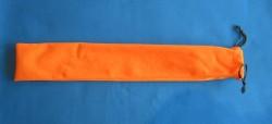 Borsa di velluto arancione per bacchette