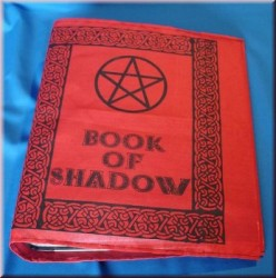 Book of Shadow - File folder cover with Pentagramm Red