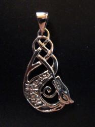 Pendentif en argent dragon celtique