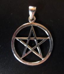 Silber-Anhänger Pentagramm