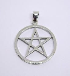 Pendentif en argent Pentagramme