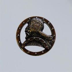 Fermaglio in ottone anticato dei guerrieri nordici