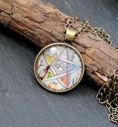 Wicca pentagram pendant