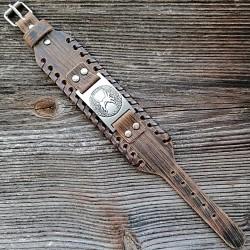 Bracelet en cuir Arbre de Vie (Yggdrasil)