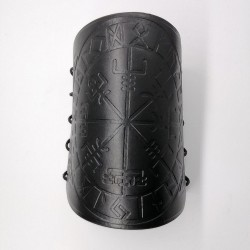 Leather bracer set with Viking compas